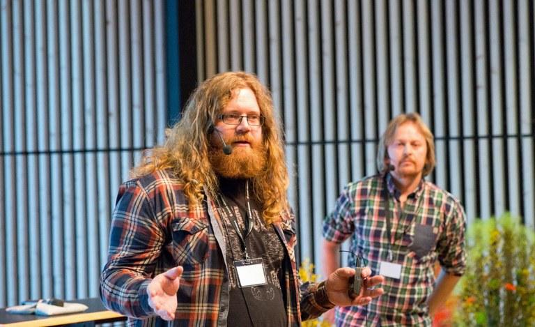 Thomas Doull (t.v.) og Håvard Martinsen fra Monsterbedriften, NorgeFoto: Jan Richard Kjelstrup/ASD