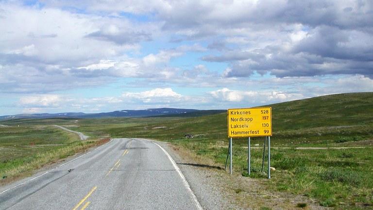 Väg i Finnmark