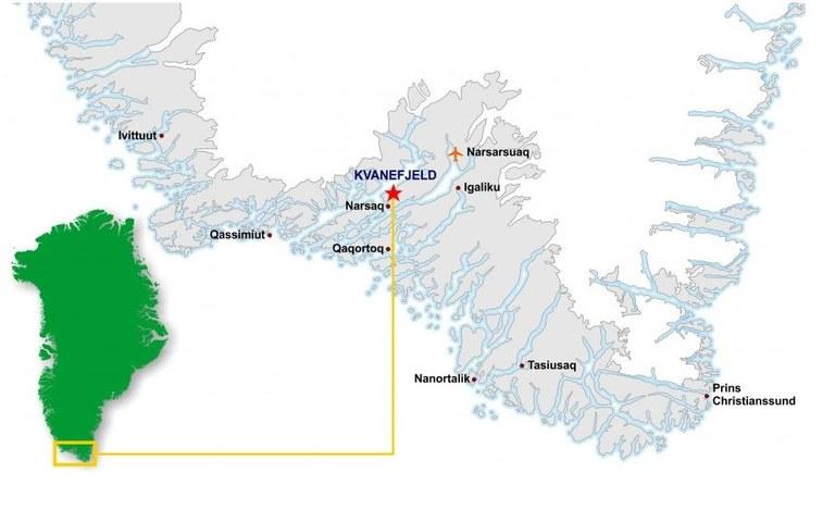 Karta: Greenland Minerals