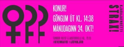 Isländska kvinnor går hem tidigare – i protest mot löneskillnaderna