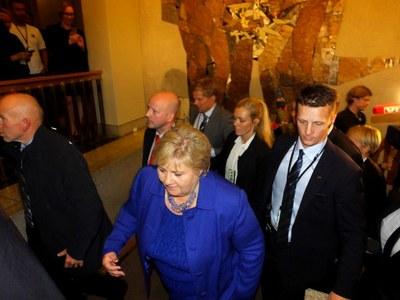 Erna Solberg på väg mot fyra nya år som norsk statsminister